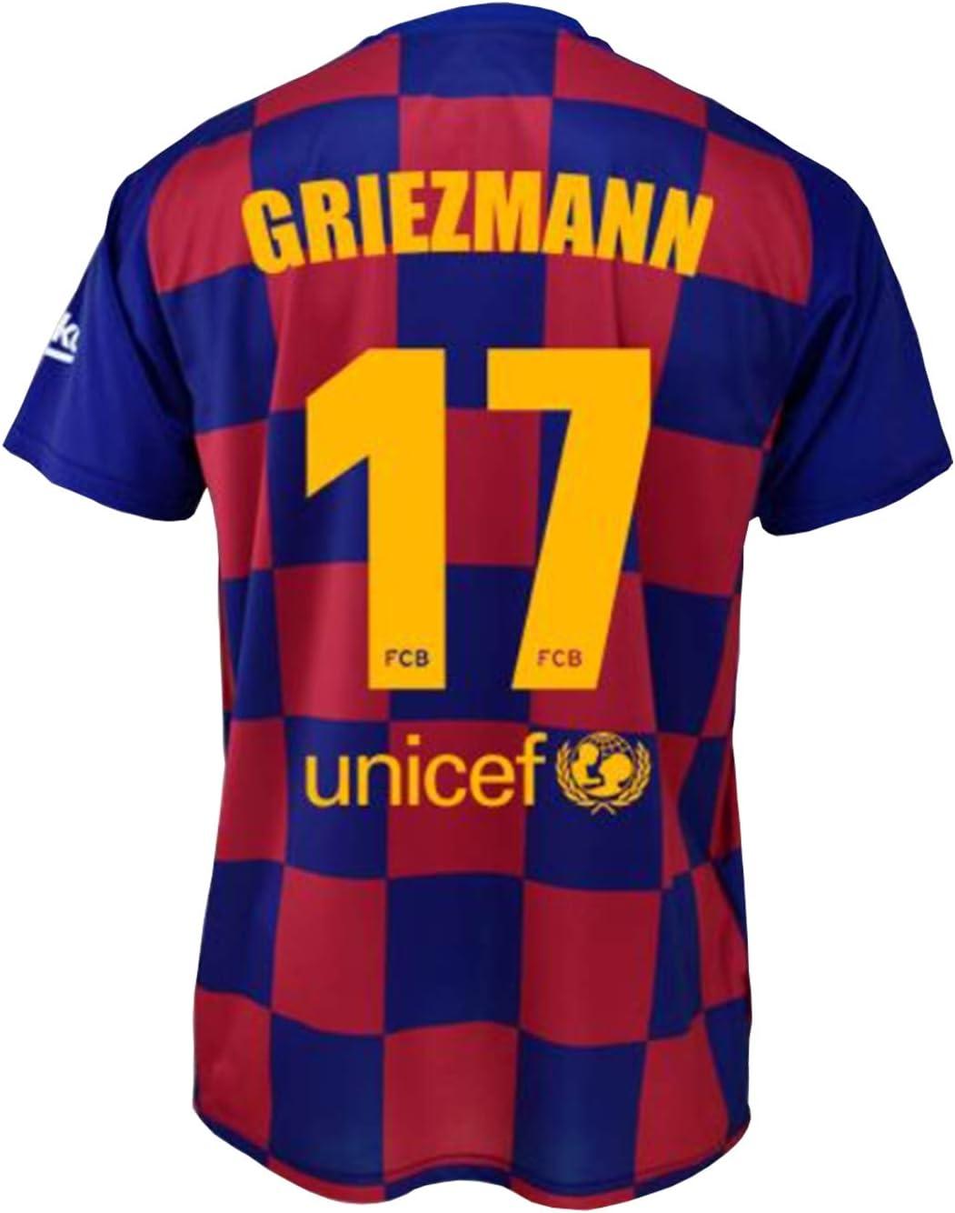 FCB Camiseta Primera Equipación Infantil Griezmann del FC Barcelona Producto Oficial Licenciado Temporada 2019-2020 Color Azulgrana