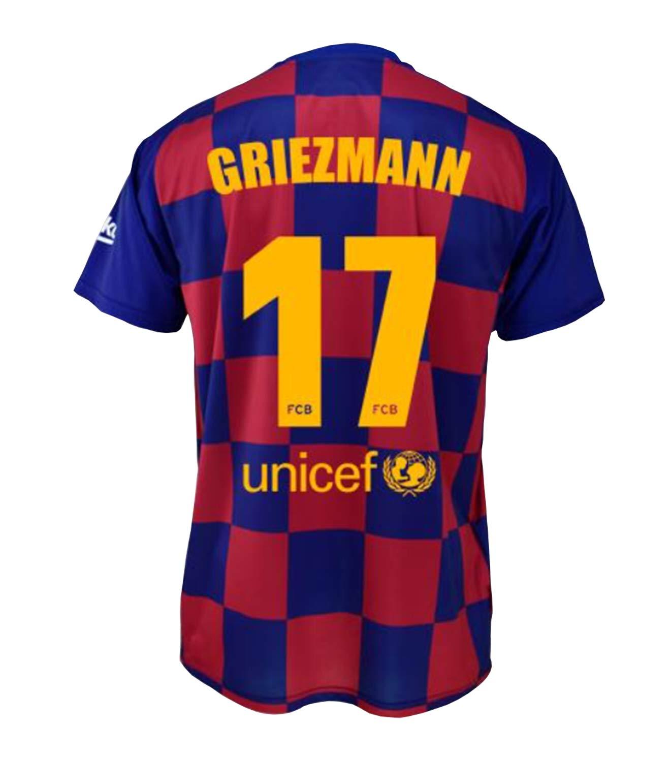 FCB Camiseta Primera Equipación Infantil Griezmann del FC Barcelona Producto Oficial Licenciado Temporada 2019-2020 Color Azulgrana (Azulgrana, Talla10): Amazon.es: Deportes y aire libre