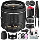 Nikon AF-P DX NIKKOR 18-55mm f/3.5-5.6G VR Lens for Nikon DSLR Camera with Wide-Angle & Telephoto Lens, Stable Tripod, Xpix Camera Lens Cleaning Kit, and Deluxe Bundle