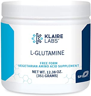 Klaire Labs L Glutamine Powder - 5000mg Free-Form & Hypoallergenic Amino Acid - Supports Muscle Recovery, Immune Support a...