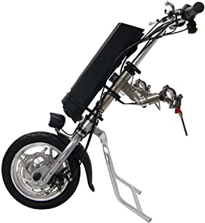 36V 250W Electric Handcycle Wheelchair Attachment Handbike DIY Conversion Kit with 36V 9AH Li-ion Battery