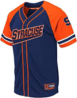 Colosseum Mens Syracuse Orange Wallis Baseball Jersey