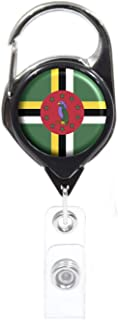 Officially Needed-Dominican Republic Country ID Badge Holder, Black Retractable Carabiner Clip | Great Office Supplies or ...