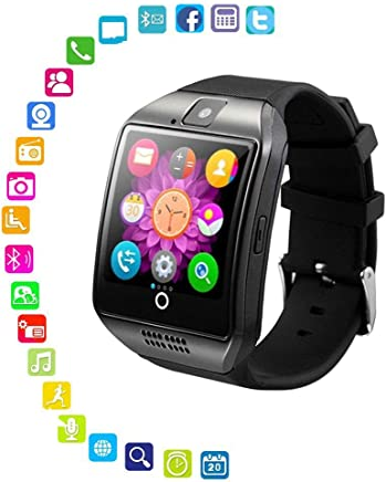 Smart Watch with Camera - Bluetooth Smartwatch with Sim Card Slot Fitness Activity Tracker - Sport Watch for Android Smartphones (Silver)
