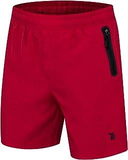 donhobo, Pantalones cortos de deporte para hombre, con bolsillos y cremallera