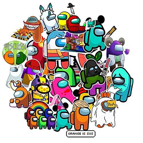 BUCUO Nuestro Paquete Medio de Pegatinas, Juego Caliente, Pegatina de Doodle, monopatín, Maleta, Bicicleta, Equipaje de Viaje, Pegatina de Dibujos Animados, 50 Uds.