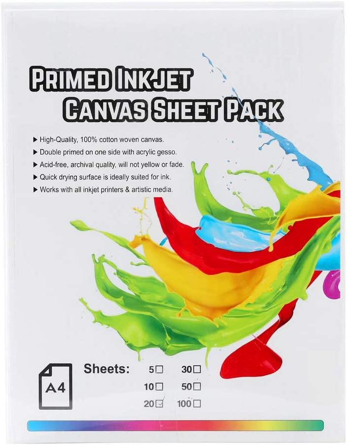 Transfree Printable Canvas Sheet Brand new Attention brand Pap Inkjet Matte Premium