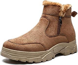 MH Vêtements pour Hommes Bottines, Chaud Bottes de Neige d'hiver Anti-Slip Bottes de randonnée pour Marcher dans la Neige/...