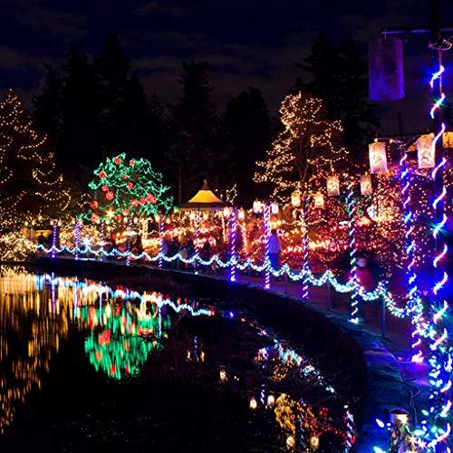 Uplord 10M 100 LED Waterproof Solar Lamps String Christmas Wreaths Wedding Decoration Light