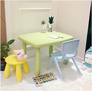 CHAXIA Child Table Chair Children s Toy Table Children s Furniture Kindergarten Learn Game Table Birthday Present Table Chair Round Stool  Color