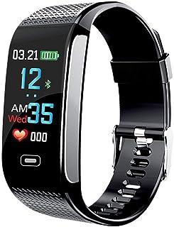 Smart Wristbands Watch Fitness Tracker Blood Pressure Heart Rate Monitor IP67 Waterproof Fitness Tracker Pedometer Sport Bracelet (Black) …