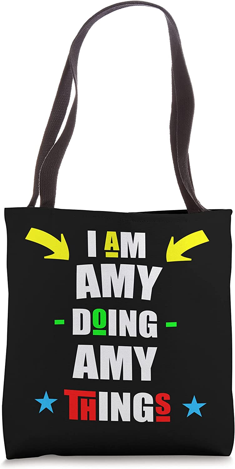 I'm Amy Virginia Beach Mall A surprise price is realized Doing Things Cool Funny Tote Bag Christmas