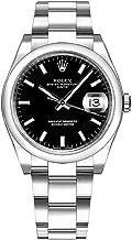 Women's Rolex Oyster Perpetual Date 34 Black Dial Luxury Watch Ref. 115200