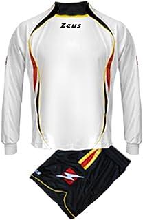 55b2d40b193367 Kit Zeus Mercurio Blu-Giallo-Bianco Completino Completo Calcio Uomo Donna  Calcetto Muta Torneo