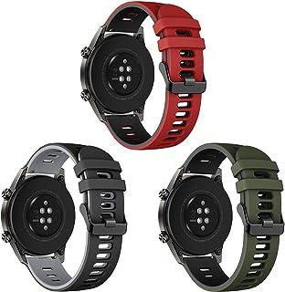 Songsier Armband kompatibel med Huawei Watch GT2 Pro 46 mm/Watch GT 46 mm/Watch GT Active/Watch 2 Pro/Galaxy watch 3 45 m...