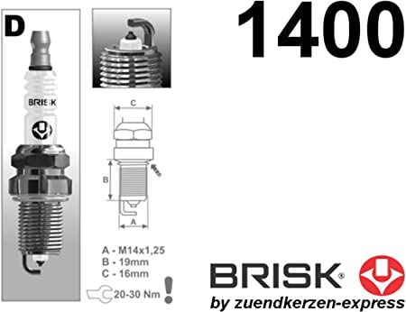 Brisk Platin Dr15yp 1400 Zündkerzen 6 Stück Auto