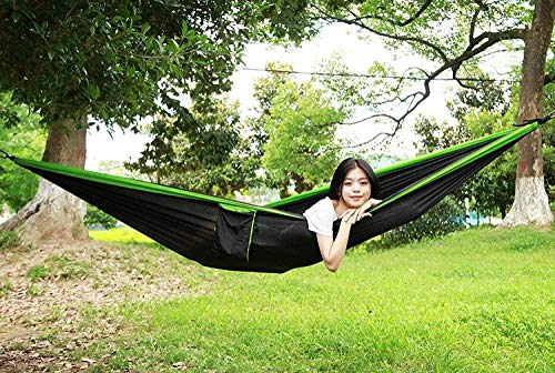YSCYLY Parachute Camping Hammock,Leisure Hanging Chair Swing With Hanging Kit,Camping Hammocks For Indoor Outdoor Garden Backpacking Travelling