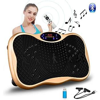 振動マシン フィットネス ぶるぶる マシン シェイカー ミニ パワーウェーブ Bluetooth音楽機能 99段階5モード ダイエット 有酸素 体幹強化 脂肪燃焼