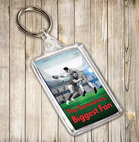 Das sunwolves größten Fan Rugby Themed Schlüsselanhänger, Geburtstag Geschenk/Strumpffüller