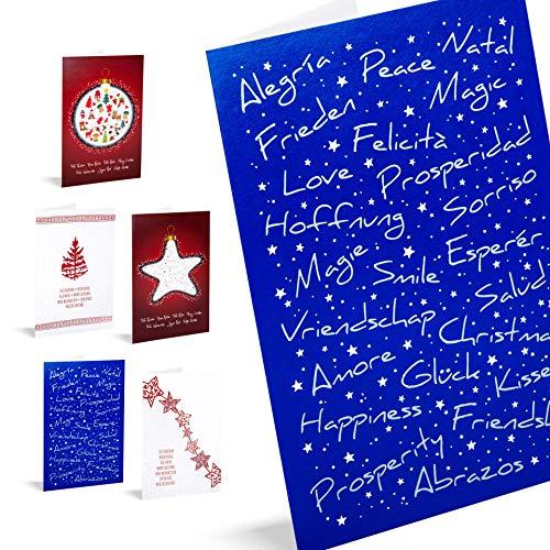 "Tarjetas de Navidad Unicef ""Good Wishes"". Pack 10 Unidades."