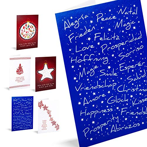 Tarjetas de Navidad Unicef 'Good Wishes'. Pack 10 Unidades.