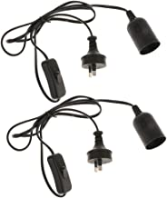 Blesiya 2x E27 Light Bulb Lamp Socket To AU AC Plug Power Cord With Off/On Switch