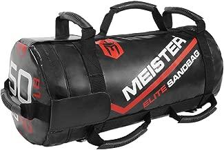 Meister 50lb Elite Fitness Sandbag Package w/ 3 Removable Kettlebells - Black