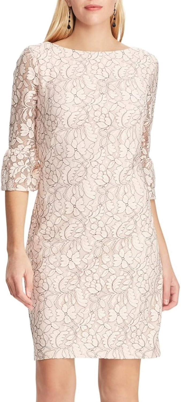 Chaps Women's Lace Bell-Sleeve Sheath Dress