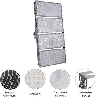 Viugreum 400W LED Flood Light, Waterproof IP65 Outdoor Work Light, 40000LM Daylight White (6000K) Security Floodlights, Landscape Wall Lighting for Garage, Garden, Lawn and Yard