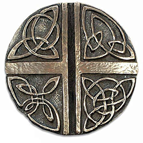 Biddy Murphy Celtic Knot Wall Hanging Irish Love Cross Celtic Wall Decor 5' Diameter Bronze Coated Resin Ready to Hang Made in Ireland