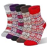 RenFox Chaussettes d'hiver pour dames,chaussettes en coton pour...