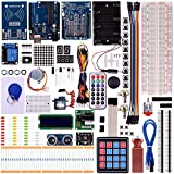 Kuman New for Arduino Components with R3 LCD servo Ultimate Starter RFID Learning Kit for Arduino Nano Learners Beginner, Complete 48 Set Kits K25