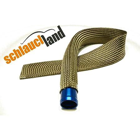 1m Kevlar Titan Hitzeschutzschlauch Id 7mm Heat Sleeve Thermoschutz Isolierschlauch Kabelschutz Auto