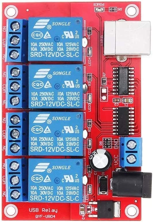 WEWINMON LHS 4 Channel 12V HID Factory outlet mart Relay Control Driverless USB