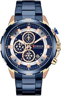 Mens Watches,CURREN Quartz Analog Calendar,Wrist Watch for Men, Fashion Waterproof Stainless...