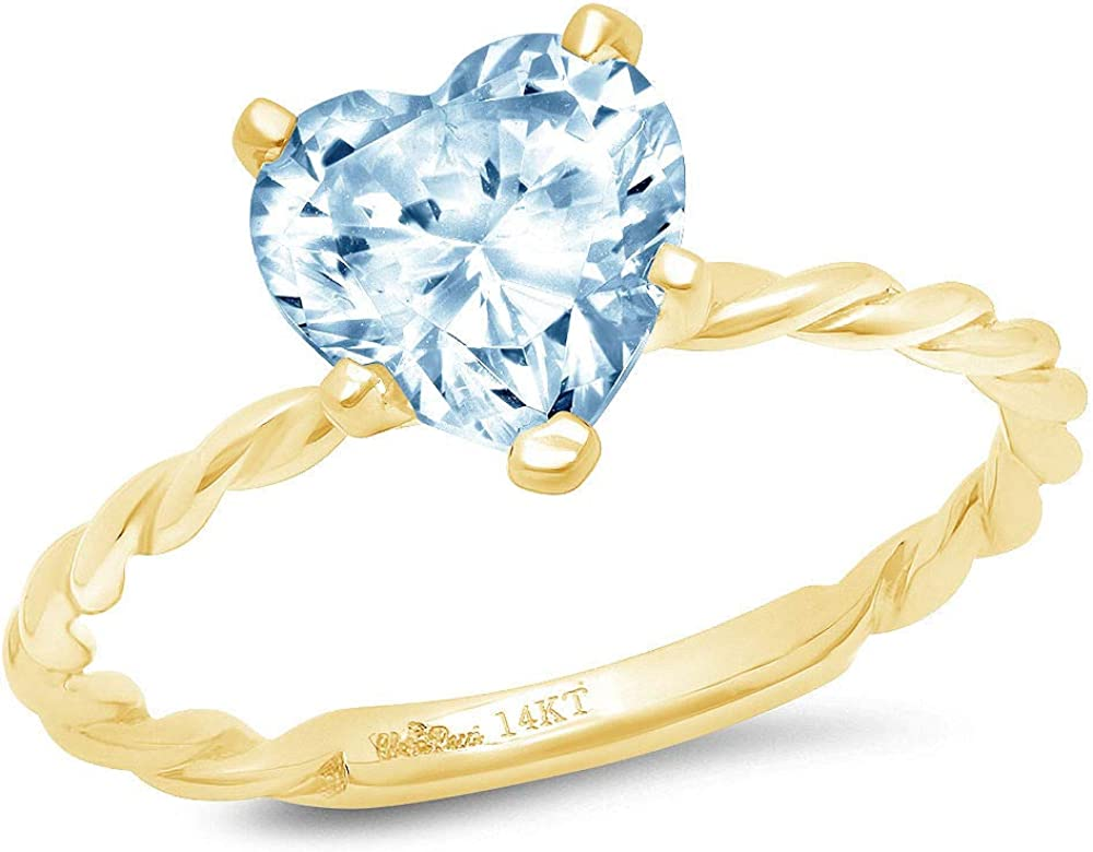 1.95ct Brilliant Heart Cut Solitaire Rope S Twisted Natural Special price for a limited Mail order time Knot