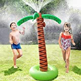 COUOMOXA Water Sprinkler Toy Inflatable Palm Tree, Outdoor Water...