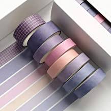 HvxMot Washi Tape, 8 Rollen Decoratieve Washi Tape-sets, Washi Tapes 3m Elke Rol, met 1 Doos, voor Dagboek, Doe-het-zelf, ...