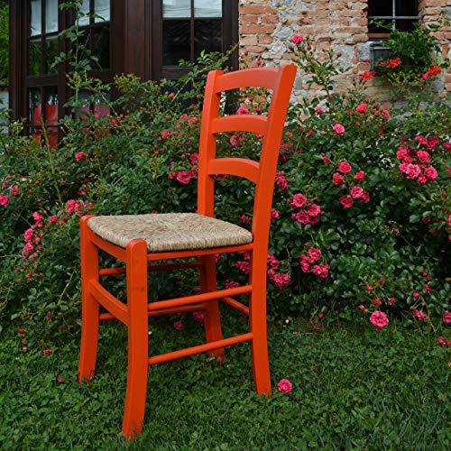 Mobili Ilar Sedia Venezia Colorata (Arancione)