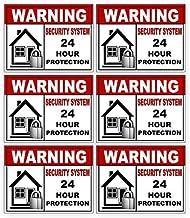 6 Pack Security Alarm Sticker Best for Home and Business for Indoor/Outdoor Use Long Lasting Weather Proof Window & Door S...