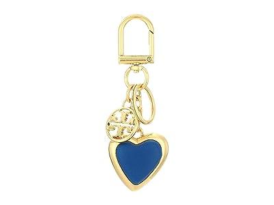 Tory Burch Logo Heart Key Fob (Nautical Blue) Wallet