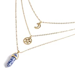 Hexagonal Column Quartz Necklaces Pendants Natural Stone Crystal Pendant Necklace for Women Jewelry