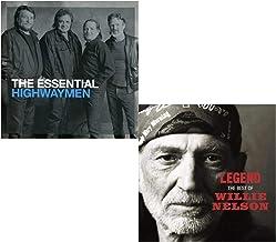 Essential Highwaymen (Greatest Hits) - Legend (Best Of) - Willie Nelson and Highwaymen Greatest Hits 2 CD Album Bundling