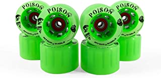 Devaskation Atom Poison 59mmx38mm Roller Skate Wheels - 4 Pack Laces