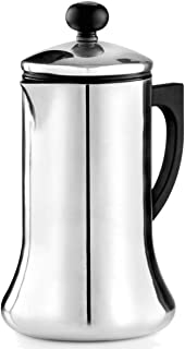 La Cafetiere CO000001 Coco Stovetop Hot Chocolate Pot and Frother, Polished Finish