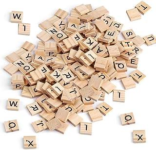 SUNSK Lettres en Bois Alphabets A à Z et Numéro Bois Artisanat pour Scrapbooking Loisir Créatif Décoration Maison Accessoi...