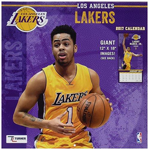 """Turner Licensing Sport 2017 Los Angeles Lakers Team Wall Calendar, 12""""X12"""" (17998011882)"""