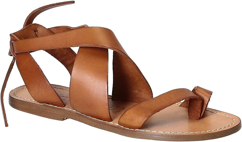 GIANLUCA - L'ARTIGIANO DEL CUOIO Kvinnors 2067bspringaaa bspringaaa läder läder läder Flip Flops  60% rabatt