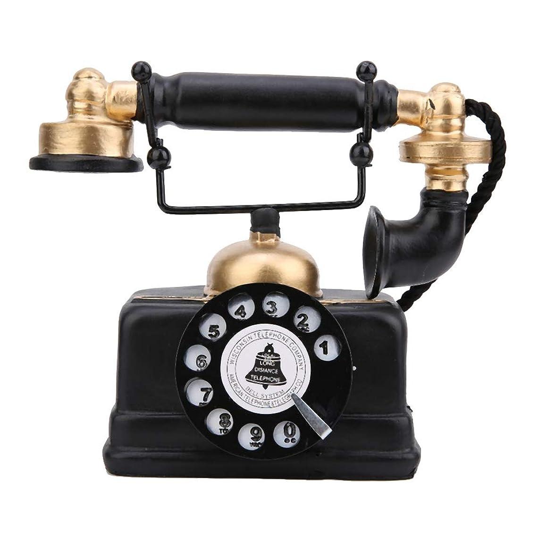 キャッシュ委託ツールSalinr ヴィンテージレトロアンティーク電話有線有線固定電話ホームデスクの装飾飾り、ヴィンテージ装飾電話固定電話/アンティーク電話