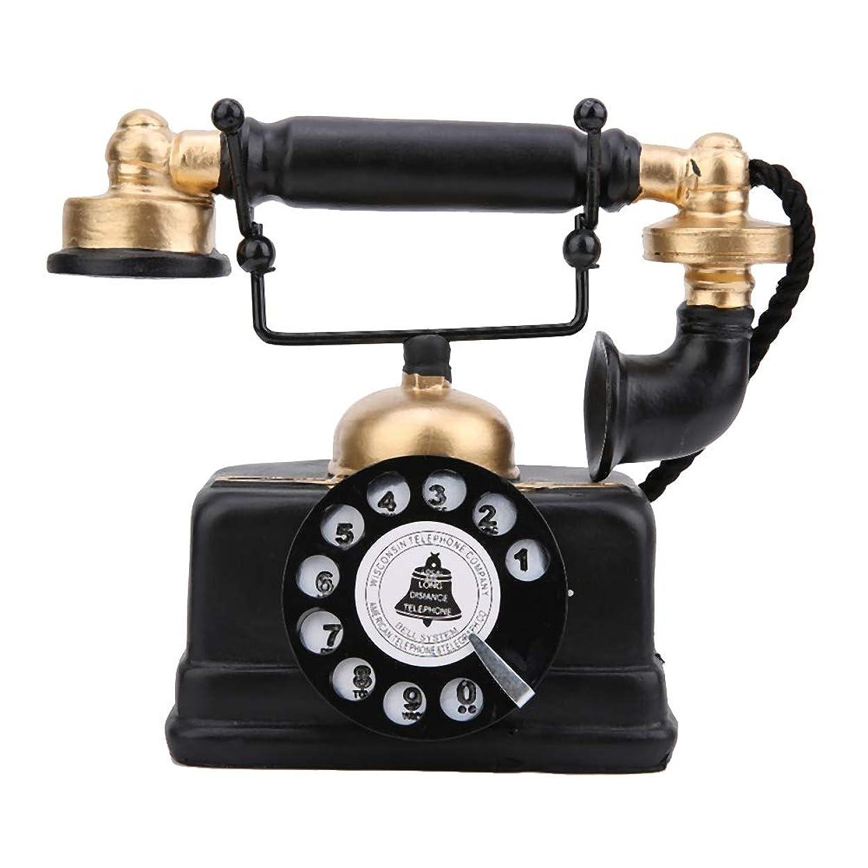 ティッシュ小川有名人Salinr ヴィンテージレトロアンティーク電話有線有線固定電話ホームデスクの装飾飾り、ヴィンテージ装飾電話固定電話/アンティーク電話